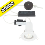 LAP Fixed Round Low Voltage FR Downlight Pre-Wired Kit Gloss White 12V