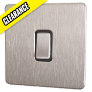 GET Intermediate 10A Switch Black Ins Stainless