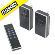 Remote Socket Dimmer Kit with Li-Ion Powered Remote Control 300W Black