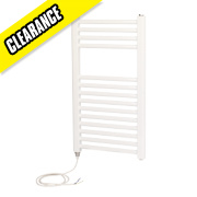 Kudox Flat Electric Towel Radiator White 700 x 400mm 150W 512Btu
