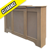 Victorian MDF Adjustable Radiator Cabinet 970-1420 x 235 x 936mm