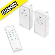 Remote Socket Dimmer Kit with Li-Ion Powered Remote Control 13A White