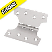 Parliament Hinges Satin Chrome 102 x 102mm Pack of 2