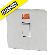 Crabtree 20A DP Switch + Neon Brushed Chrome