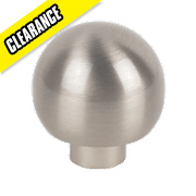 Ball Top Knob Satin Nickel 32mm Pack of 2
