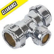 Conex Chrome Compression 22x22x15 Reducing Tee
