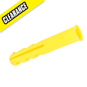 Rawlplug Plastic Plugs Yellow 5mm Pack of 1000