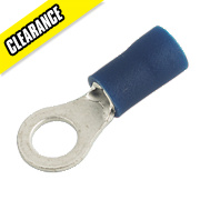 Crimp Insulated Blue Ring 4mm Pack of 100