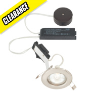 LAP Fixed Round Low Voltage Downlight Kit Brushed Chrome 12V