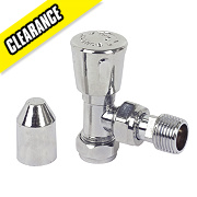 All Chrome Angled Radiator Valve 15mm