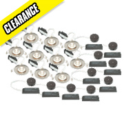 LAP Fixed Low Voltage Downlight Contractor Pack Brushed Chrome 12V Pk10