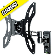 Vivanco LCD Dual Arm TV Wall Mount Medium Tilt & Swing 26-37""