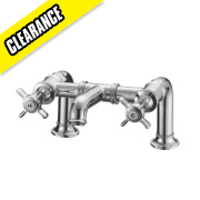Fosse and Stratton Greenwich Bath Filler Bathroom Taps Pair