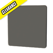 GET 1-Gang Blank Plate Black Nickel