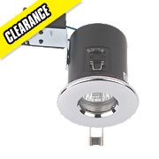 JCC Lighting Fixed Round Fire Rated Recess Shower Downlight Polished Chrome 240V
