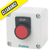 Crabtree 1-Way Stop Push Button