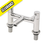 Swirl Essential Dual Lever Bath Filler Bathroom Taps Chrome-Plated