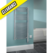 Kudox Curved Electric Thermo Towel Radiator Chrome 1100 x 500mm 250W 853Btu