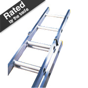 Lyte Trade ELT225 Double Extension Ladder 8 Rungs Max. Height 3.82m