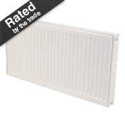 Kudox Premium Type 11 Single Panel Single Convector Radiator White 600x1100