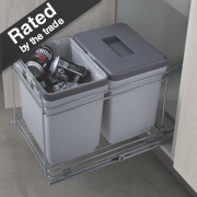 Hafele Pull-Out Waste Bin System Grey