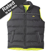 "Site Reversible Hi-Vis Bodywarmer Yellow/Black X Large 47"" Chest"