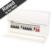 BG 10-Way High Integrity Populated Insulated Consumer Unit Dual 63A RCD
