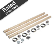 Richard Burbridge Round Staircase Handrail Kit Pine 3.6m