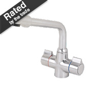 Swirl Sink-Mounted Mono Mixer Kitchen Tap Brushed Nickel