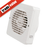 Manrose TF150BP 25W Axial Pullcord Kitchen Fan