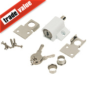 Patio Door Lock White