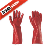 "Keepsafe PVC 16"" Gauntlets Red Large"