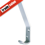 Hat & Coat Hook Satin Anodised Aluminium 110mm Pack of 5