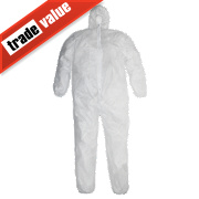 "Keepsafe Disposable Coveralls White X Large 42-46"" Chest 31"" L"