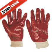 Keepsafe PVC Gloves Red Large