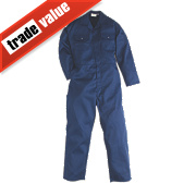 "Worksafe Traditional Polycotton Boiler Suit Blue X Large 48"" Chest 31"" L"