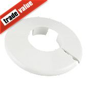 Pipe Collar 15mm White Pack of 10