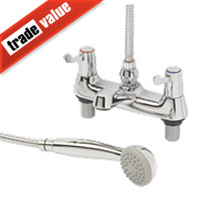 H and C ¼ Turn Dual Commercial Lever Bath / Shower Mixer Bathroom Tap
