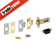 Eclipse Double Sprung Mortice Latch Electro Brass / Satin Chrome 76mm