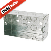 Appleby Galvanised Steel Knockout Boxes 2G 47mm