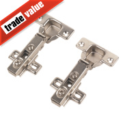 Sprung Concealed Clip-On Hinges 110° 35mm Pack of 2