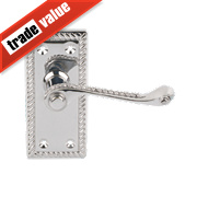 Georgian Scroll Door Handle Pack Polished Chrome