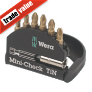 Wera Mini-Check Assorted 25mm Pozi 2 Set 7Pc