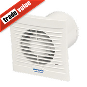 Vent-Axia 100T 6W LoCarbon Silhouette Axial Bathroom Extractor Fan w/Timer