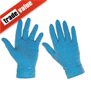 100% Natural Latex Disposable Gloves Blue Large Pk100