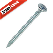 Easydrive BZP Bugle Head Fine Thread Drywall Screws 3.5 x 50mm Pk1000