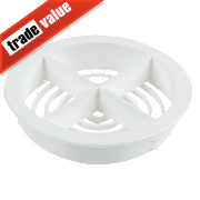 Circular Soffit Vent White 70mm Pack of 10