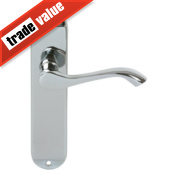 Cadenza Latch Door Handle Pair Polished Chrome