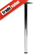 Hafele Worktop Leg Chrome 870mm