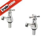 Swirl Traditional Bathroom Basin Taps Pair Chrome